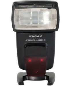 Yongnuo YN568EX III master flash speedlite. Newly designed Yongnuo Speedlite. Upgraded version of YN568EX II now featuring faster recycle time and firmware upgrades. Great choice for on-camera flash for professionals and advanced amateur Canon shooters