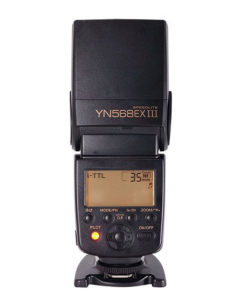 Yongnuo YN568EX III master flash speedlite. Newly designed Yongnuo Speedlite. Upgraded version of YN568EX now featuring faster recycle time and firmware upgrades. Great choice for on-camera flash for professionals and advanced amateur Nikon users