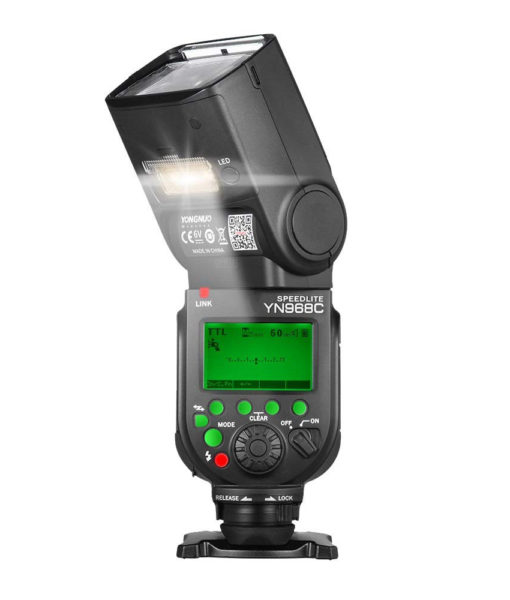 Yongnuo YN968C is a wireless enabled speedlite flash for Canon DSLR cameras